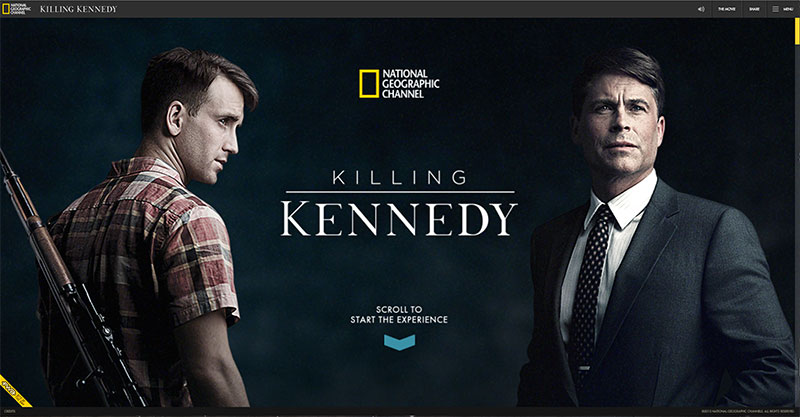 Kennedy and Oswald website homepage featuring responsive design