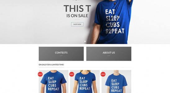 5dea6465 Shirt Collective's homepage WooCommerce website design with model in banner  area