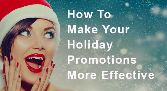 Woman In Santa Hat Looking At Holiday Promotions More Effective